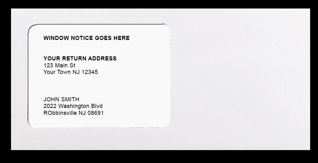 sample mail piece
