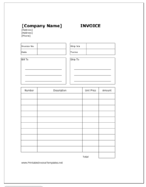 Free Billing Invoice Template For Download Letterhub