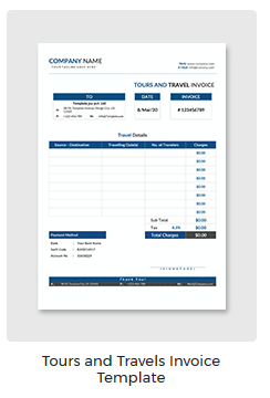 Travel Invoice | Tours And Travels Invoice Template