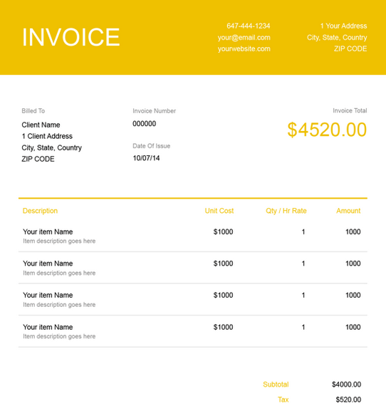 free ms office invoice template