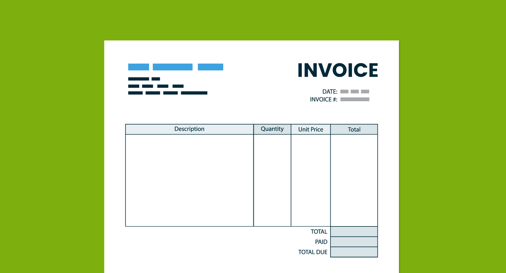 send invoice letter to client