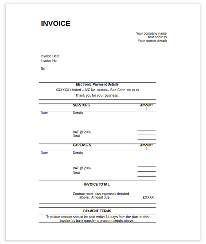 Payment Invoice Template from letterhub.com